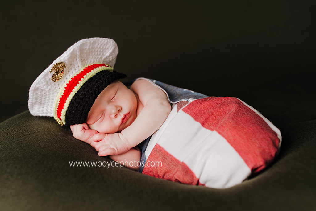 Cleveland newborn, newborn photo, wrapped newborn